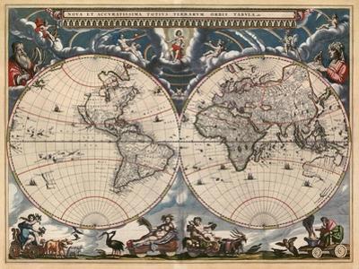 Nova et Accuratissima Totius Terrarum Orbis Tabula by Joan Blaeu