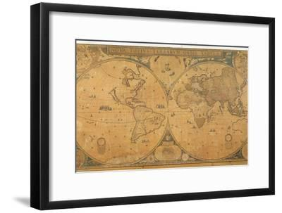 'Nova Totius Terrarum Orbis Tabula' (World Map) C.1655-58