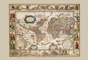 Nova Totius Terrarum Orbis by Joan Blaeu