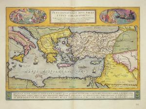 Peregrinationis Divi Pauli Typus Corographicus' Page from the 'Atlas Major', 1662 by Joan Blaeu