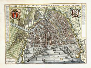 Plan and View of the Towns and Buildings of Holland and the Low Countries, 1649 by Joan Blaeu