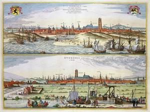 The City of Dunkirk During the Spanish Occupation, Published in Amsterdam, 1649 by Joan Blaeu