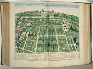 "The Villa D'Este Palace and Gardens, Tivoli, from ""Theatrum Civitatum"", 1663 by Joan Blaeu"