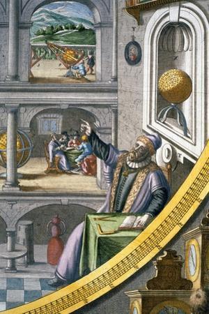 Tycho Brahe, Danish astronomer, (c1630) by Joan Blaeu