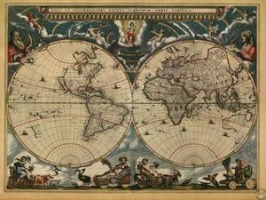 World Map, c.1664 by Joan Blaeu