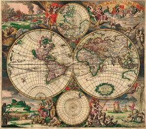 World Map, c.1689 by Joan Blaeu