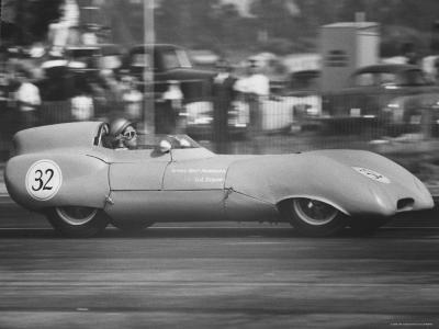 Joan Galloway in Race Driving Lotus Mark XI-Allan Grant-Photographic Print