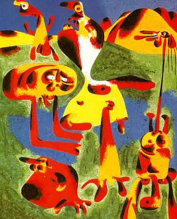 Personnages et Montagnes, c.1936 by Joan Mir?