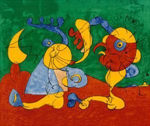 Adlige In Der Fallgrube by Joan Miro