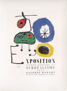 AF 1947 - Galerie Maeght by Joan Miro