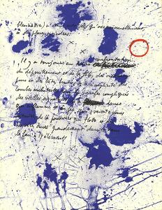 Album 19 Original Lithographs Page 6 by Joan Miro