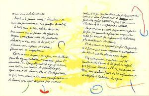 Album 19 Original Lithographs Pages 11,12 by Joan Miro