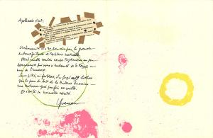 Album 19 Original Lithographs Pages 7,8 by Joan Miro