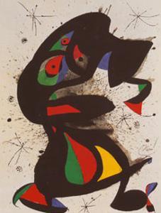 Aufrechte Figur by Joan Miro