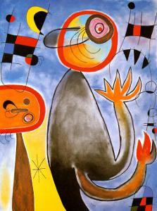 Echelles en Roue de Feu Traversant by Joan Miro