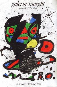Expo 78 - Galeria Maeght Barcelona by Joan Miro