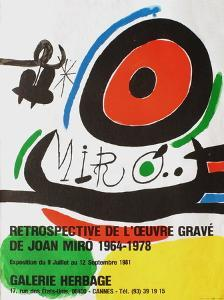 Expo 81 - Galerie Herbage by Joan Miro