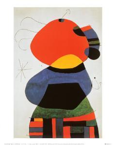 Femme aux Trois Cheveux by Joan Miro