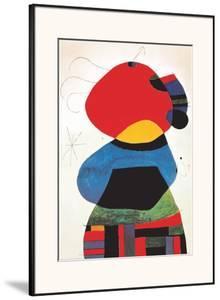 Femme aux Trois Cheveux by Joan Miró