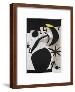 Femme et Oiseaux Dans la Nuit, 1969 - 1974 by Joan Miro