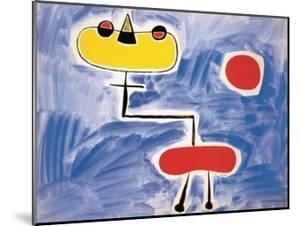 Figur Vor Roter Sonne by Joan Miro