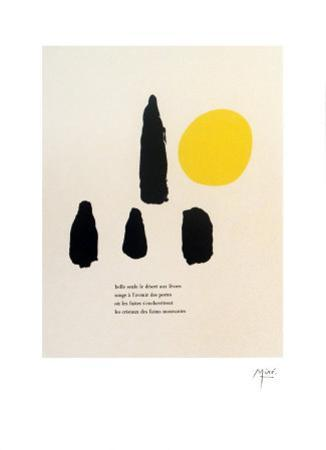 Illustrated Poems-Parler Seul by Joan Miró
