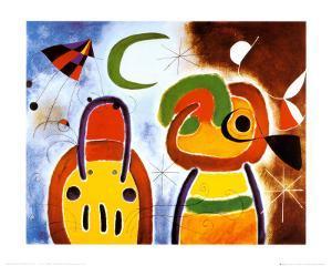 L'Oiseau au Plumage Deploye by Joan Miro