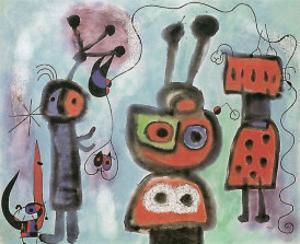 L'Oiseau au Regard, 1952 by Joan Miro