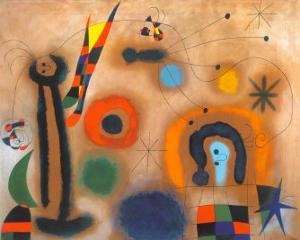 Libelle Mit Roten Flugeln Eine Schlange Jagend by Joan Miro