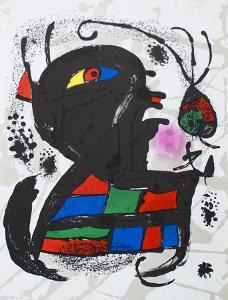 Litografia original V by Joan Miro