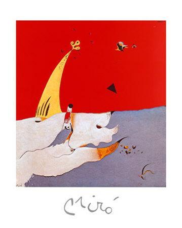 Carota by Joan Miro 20x16 Museum Art Print Poster Abstract