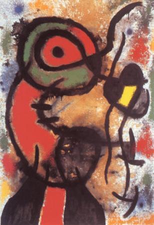Personnage et Oiseau, c.1948 by Joan Miró