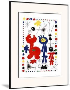 Personnage et Oiseaux by Joan Miró