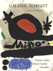 Solar Bird, Lunar Bird, Sparks by Joan Miro