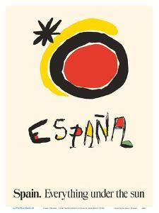 Spain (Espana) - Everything Under the Sun by Joan Miro