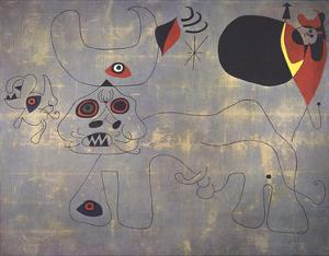 The Bullfight by Joan Miro