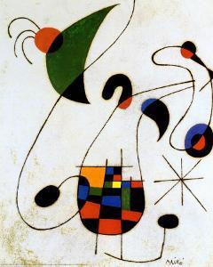 The Melancholic Singer by Joan Miro