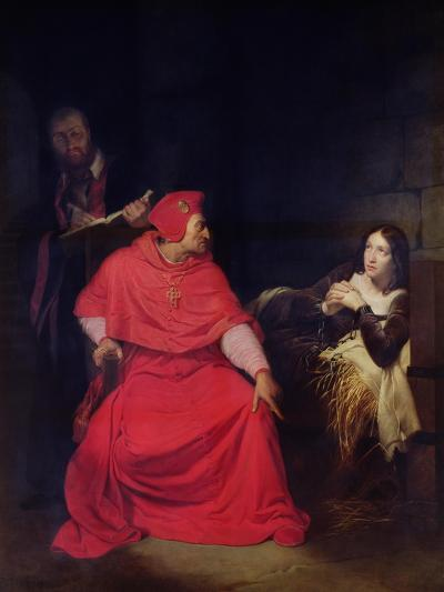 Joan of Arc (1412-31) and the Cardinal of Winchester in 1431, 1824-Hippolyte Delaroche-Giclee Print