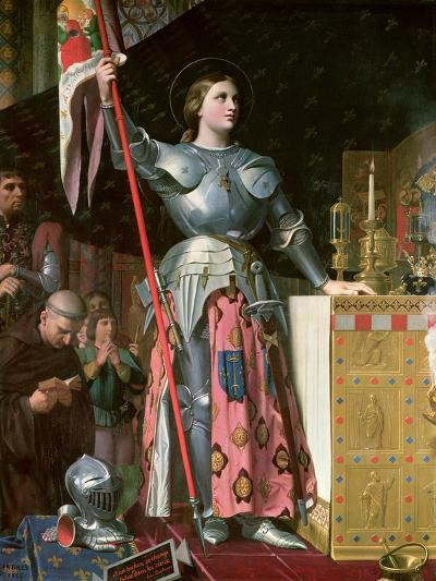 Joan of Arc (1412-31) at the Coronation of King Charles Vii (1403-61) 17th July 1429, 1854-Jean-Auguste-Dominique Ingres-Giclee Print