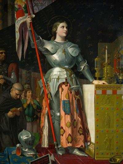 Joan of Arc at the Coronation of King Charles VII at Reims Cathedral, July 1429-Jean-Auguste-Dominique Ingres-Giclee Print