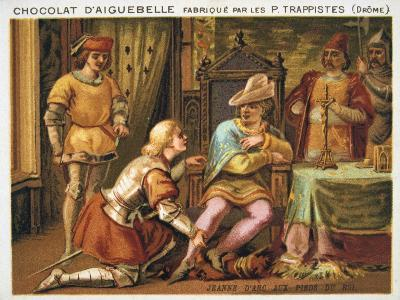 Joan of Arc at the Feet of Charles VII, C1429, (Late 19th Centur)--Giclee Print