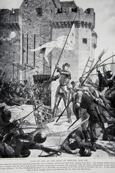 Joan of Arc at the Siege of Orleans--Giclee Print