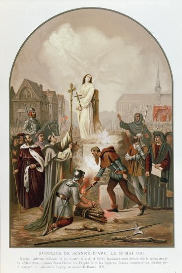 Joan of Arc at the Stake, 30 May 1431, 1861-Frederic Legrip-Giclee Print