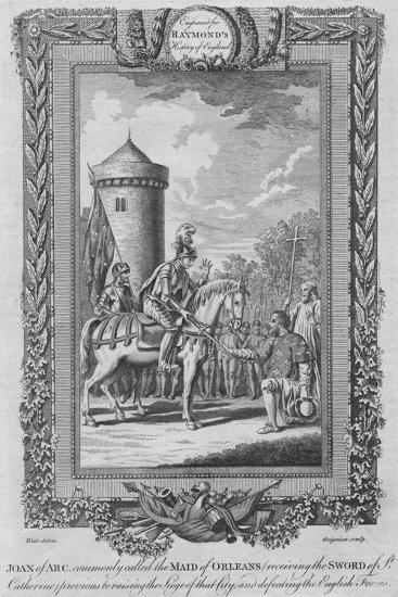 'Joan of Arc commonly called the Maid of Orleans (receiving the Sword of St. Catherine)', c1787-Unknown-Giclee Print
