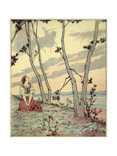 Joan of Arc Hears Heavenly Voices in the Forest-Jacques de Breville-Giclee Print