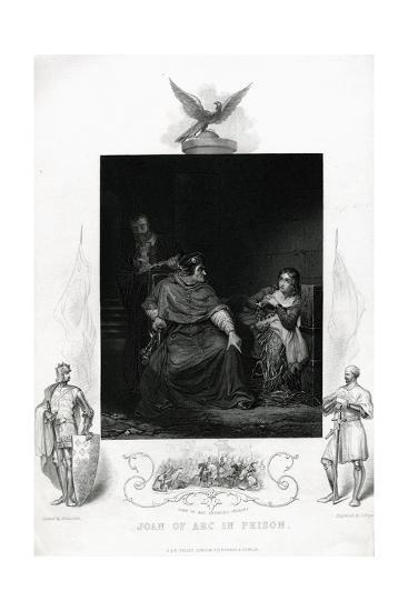Joan of Arc in Prison Engraving from Shakespeare's Henry VI, Part I, Act V--Giclee Print