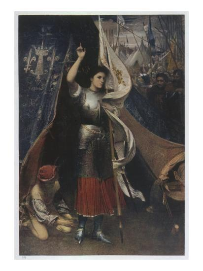 Joan of Arc Is Helped to Don a Suit of Armour before Battle, in the Camp of Her Troops--Giclee Print