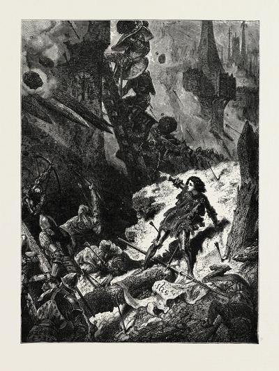 Joan of Arc (Jean D'Arc) at the Siege of Paris--Giclee Print