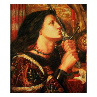 Joan of Arc Kissing the Sword of Deliverance, 1863-Dante Gabriel Rossetti-Giclee Print