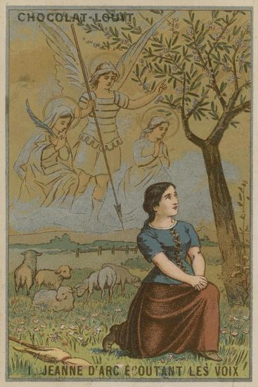 Joan of Arc Listening to Voices--Giclee Print